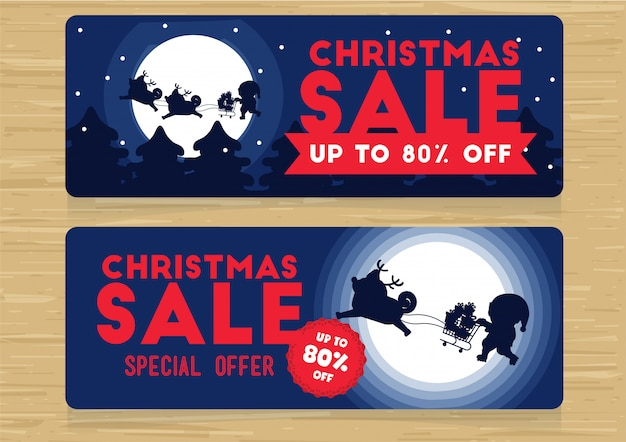 Christmas promotion boxing day sales banner