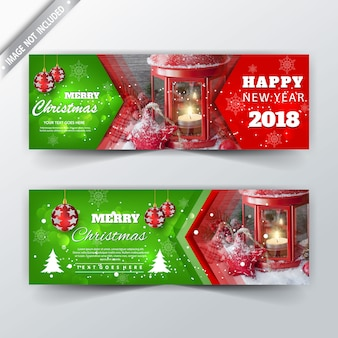 Christmas promotional banners