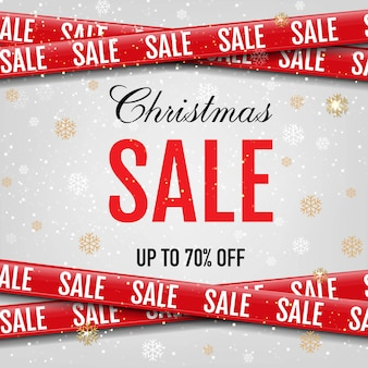 Christmas promotional sale ribbon