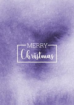 크리스마스 보라색 추상 수채화 배경