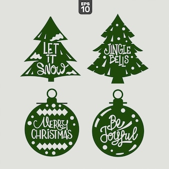 Christmas quote set. cutting file for sticker and decoration