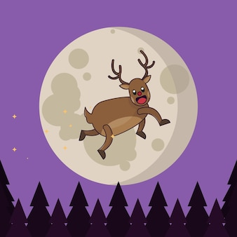 月のクリスマスレインダー