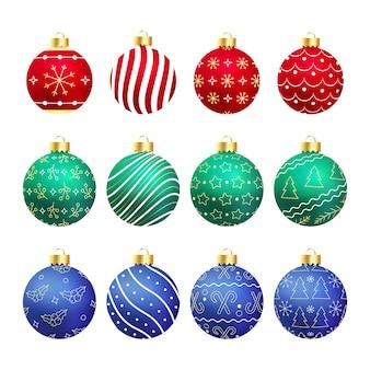 Рождественская реалистичная коллекция шаров