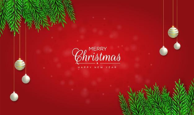 Рождественский красный фон дизайн