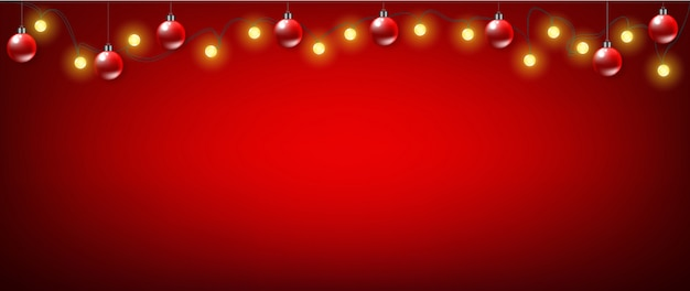 Christmas red banner background