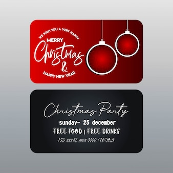 Christmas red and black banner template