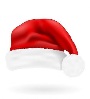 Christmas red hat santa claus vector illustration