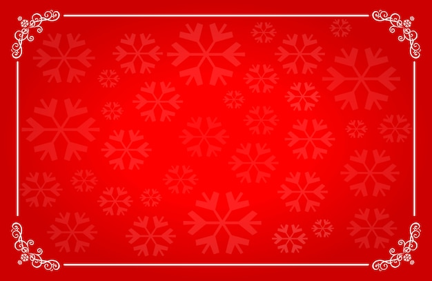 Christmas red horizontal background with place for text.