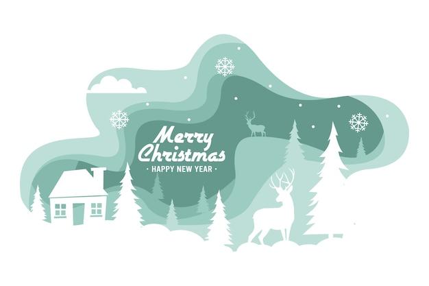 クリスマスのトナカイの背景紙のスタイル