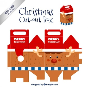 Christmas reindeer cut out box
