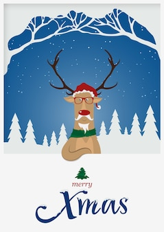 Рождественский олень для новогоднего праздника