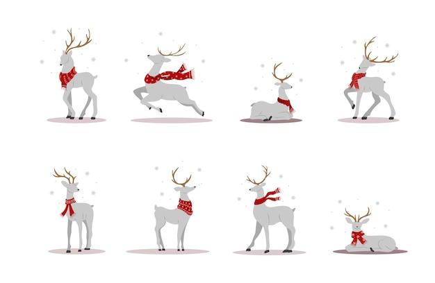 スカーフのクリスマストナカイ。