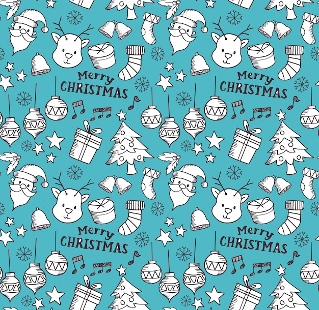 Christmas related object seamless background