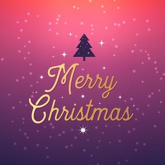 クリスマスレトロなグリーティングカードと背景