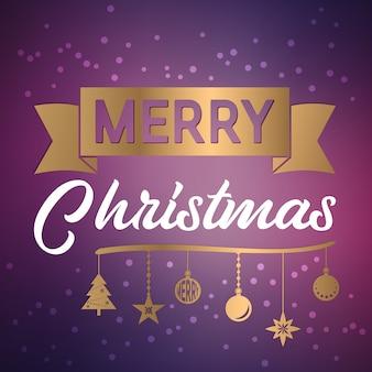 Рождественские ретро поздравительную открытку и фон