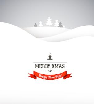 印刷する準備ができてクリスマスレトログリーティングカード