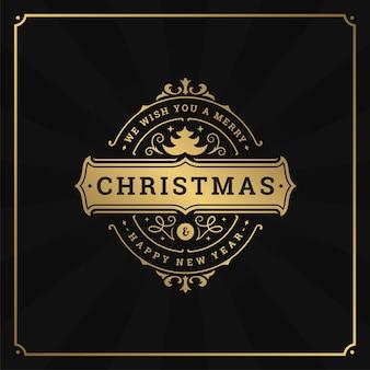 クリスマスのレトロなタイポグラフィの引用と雪片パターンの背景ベクトル図