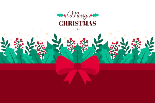 Christmas ribbon background concept