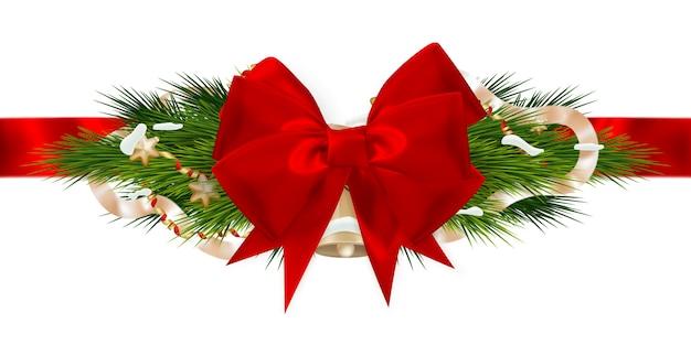 Рождественские украшения ленты.