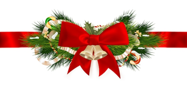 Christmas ribbon decoration.