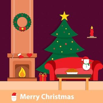 Christmas room background wallpaper
