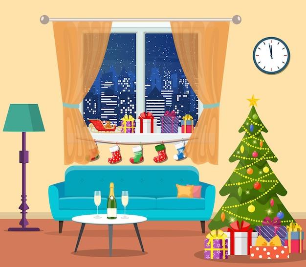크리스마스 방 인테리어입니다.