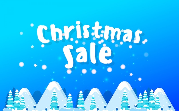 The christmas sale. advertising poster for the store.