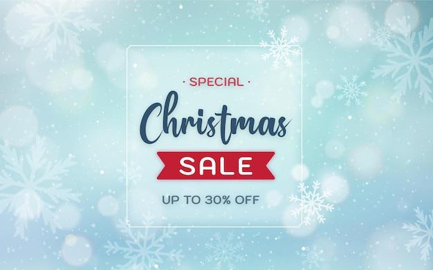 Рождественские продажи фон с несфокусированным пейзажем