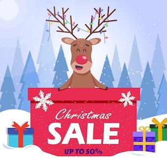 사슴 크리스마스 판매 배경