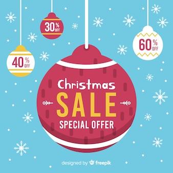 크리스마스 판매 배경