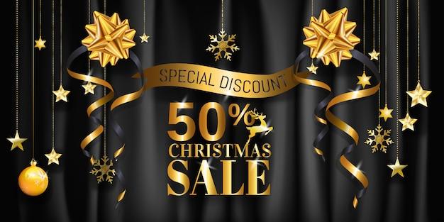 Christmas sale banner design for poster