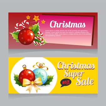 Christmas sale banner light decoration