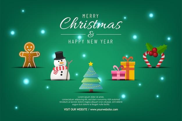 녹색 배경에 크리스마스 판매 배너입니다. 지금 메리 크리스마스 가게 문자를 보내세요.