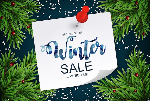 Christmas sale banner special offer