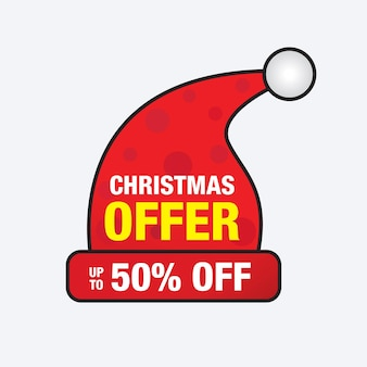 Christmas sale banner template design vector illustration