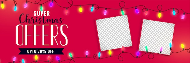 Christmas sale banner with image space