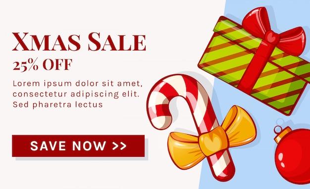 Christmas sale banner. .