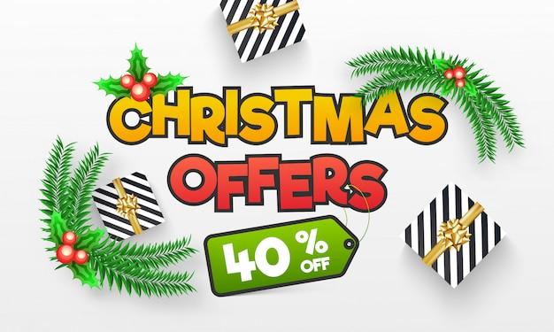 Christmas sale banner.