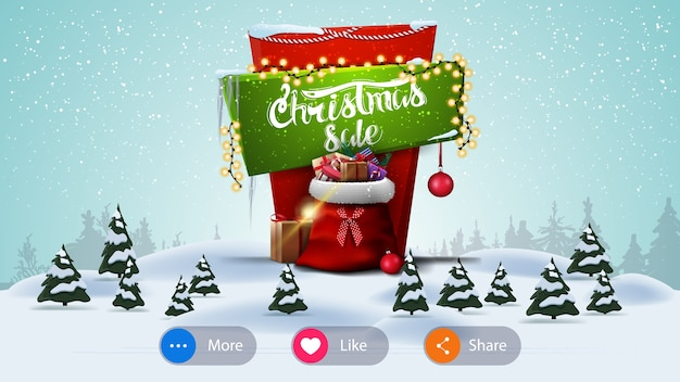 Christmas sale, banner