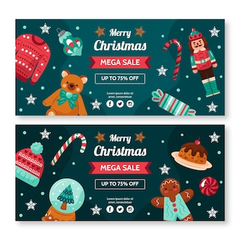 Christmas sale banners designs