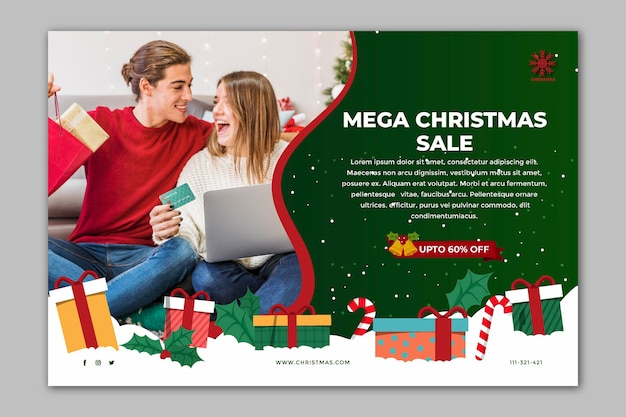 Christmas sale banners template