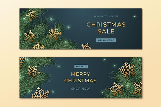 Christmas sale banners template