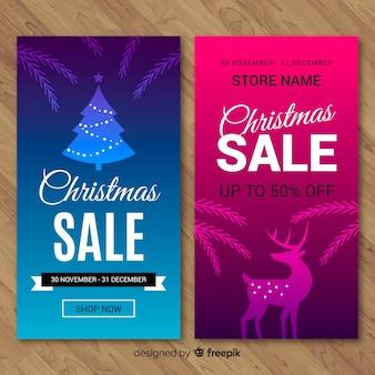 Christmas sale banners
