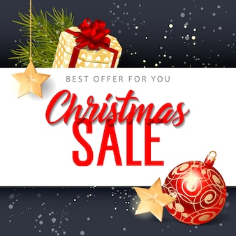 Christmas sale best offer lettering