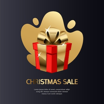 Christmas sale card gold