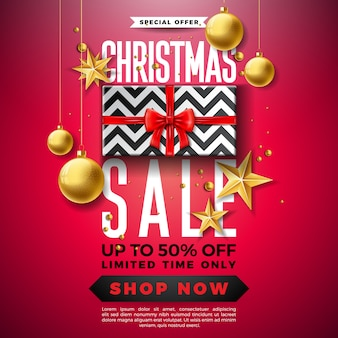 Christmas sale design with ornamental ball