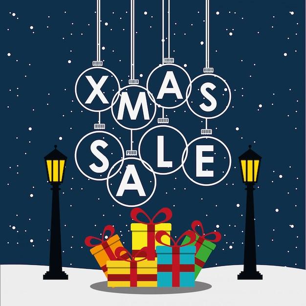 Рождественская распродажа дизайн