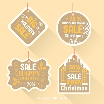 Christmas sale different shapes label collection