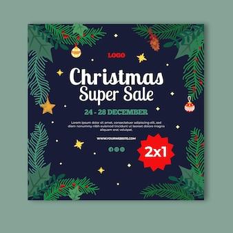 Шаблон флаера рождественской распродажи