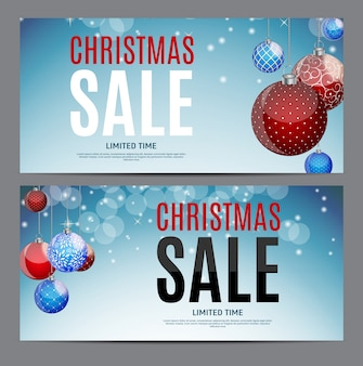 Christmas sale gift voucher, discount coupon template